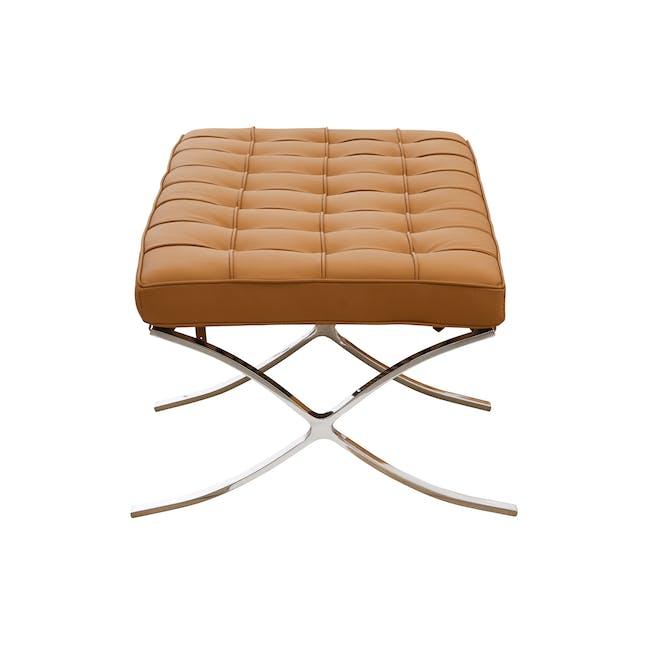 Barcelona 2 Seater Ottoman Replica - Tan (Genuine Cowhide) - 2
