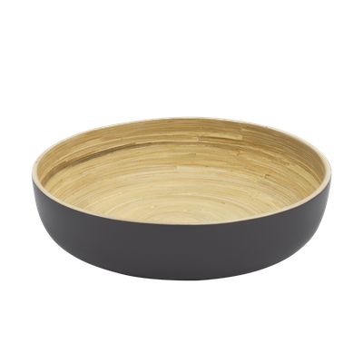 Rowan Bamboo Serving Bowl - Grey - Image 2