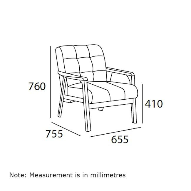 Tucson 2 Seater Sofa with Tucson Armchair - Chestnut (Fabric) - 11