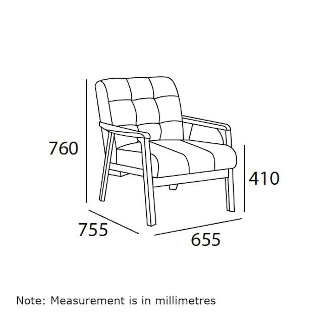 Tucson 3 Seater Sofa with Tucson Armchair - Chestnut (Fabric) - 10