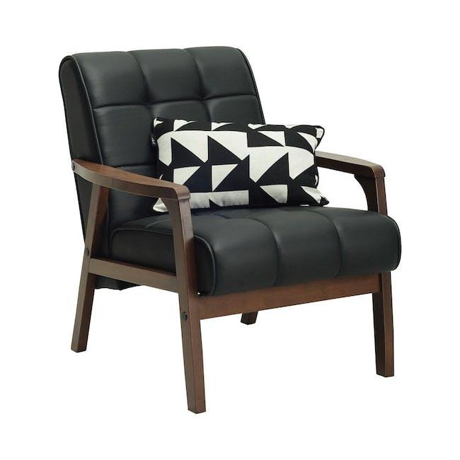 Tucson 3 Seater Sofa with Tucson Armchair - Chestnut (Fabric) - 9