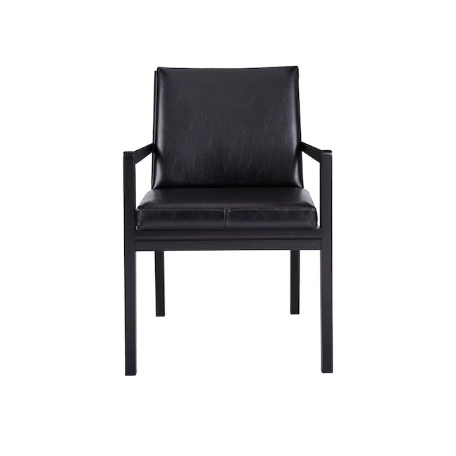 Lincoln Chair - Black (Faux Leather) - 2
