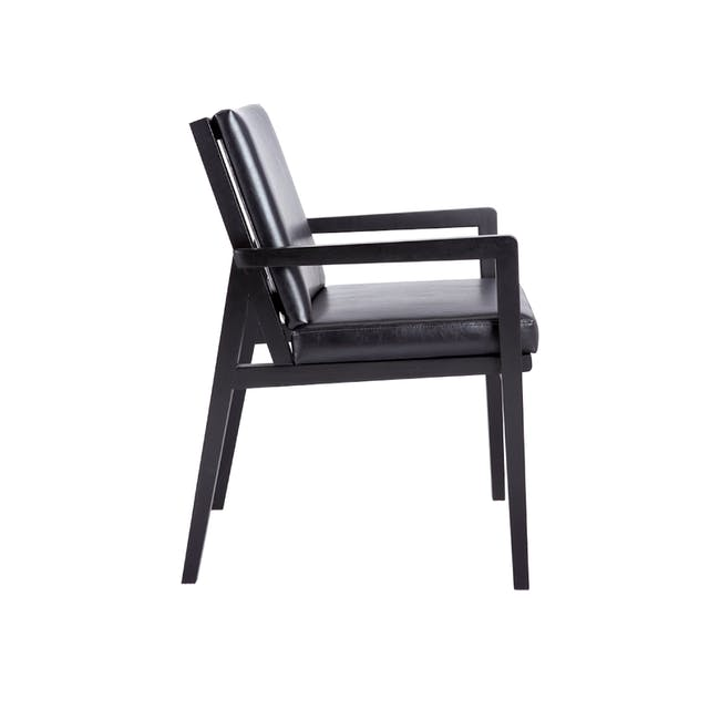 Lincoln Chair - Black (Faux Leather) - 1