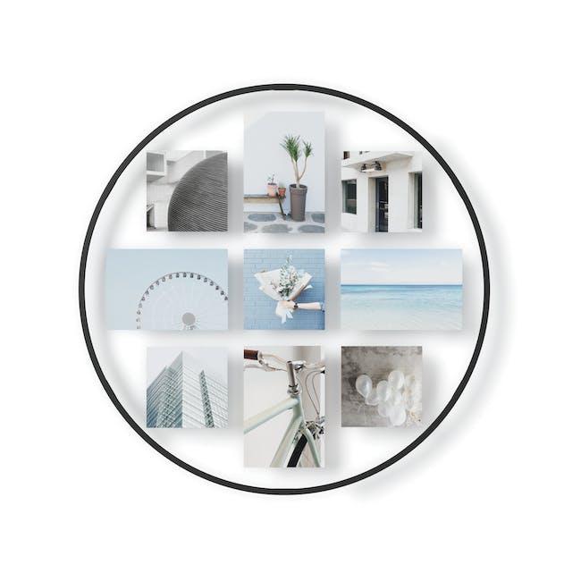 Infinity Wall Float Round Photo Display - Black - 0