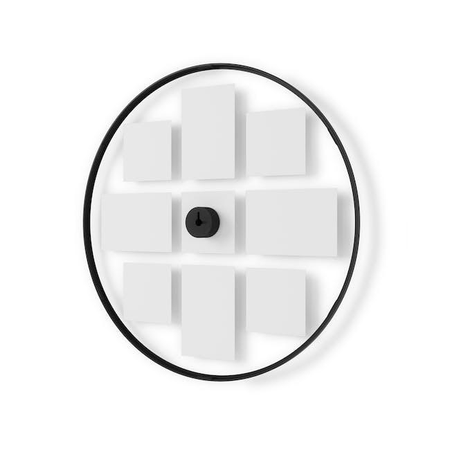 Infinity Wall Float Round Photo Display - Black - 3