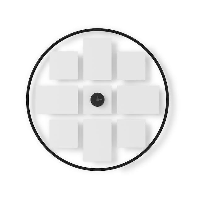 Infinity Wall Float Round Photo Display - Black - 2