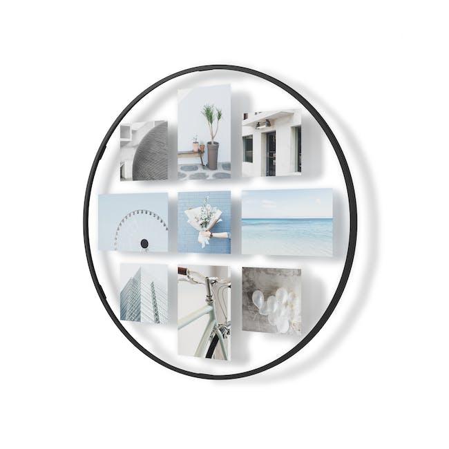 Infinity Wall Float Round Photo Display - Black - 1
