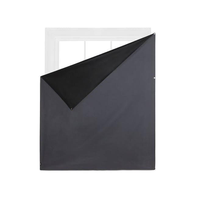 Complete Blackout Magnetic Window Cover - Charcoal - 7