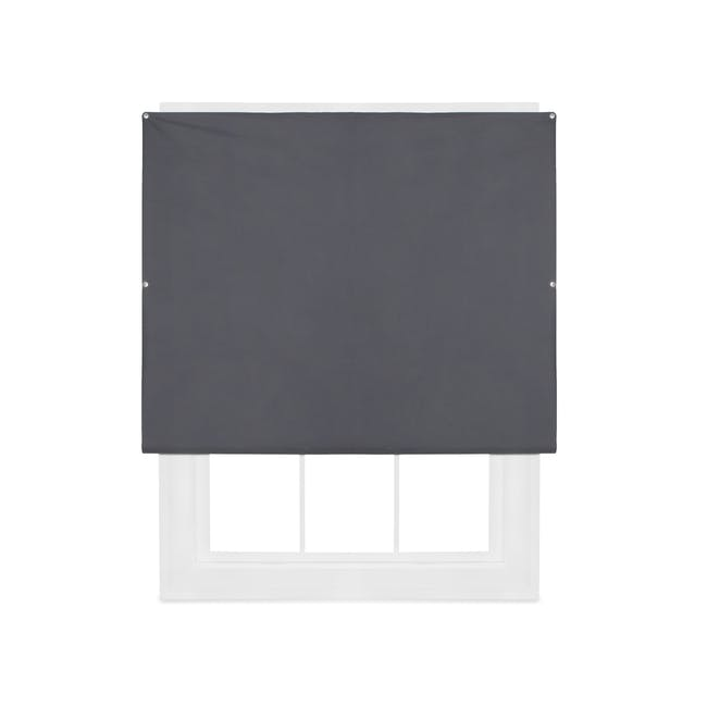 Complete Blackout Magnetic Window Cover - Charcoal - 0