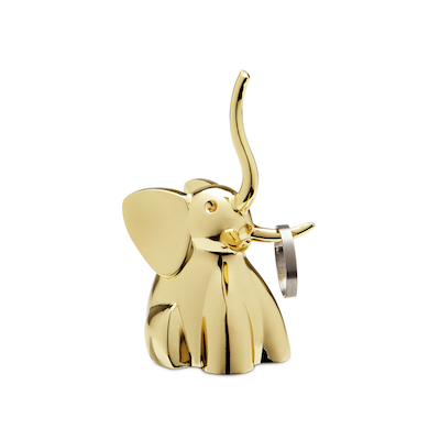 Zoola Elephant Ring Holder - Brass - Image 2