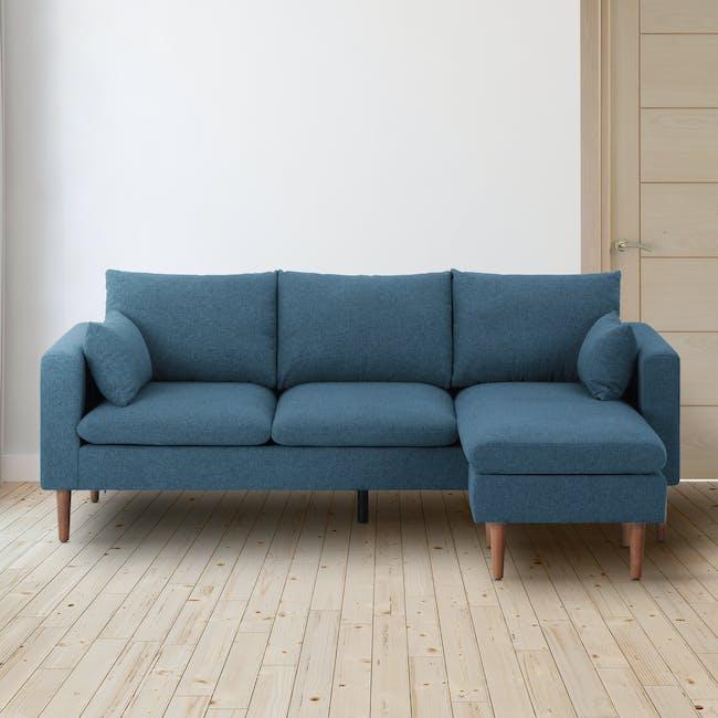 Alicia L-Shaped Sofa - Blue - 1
