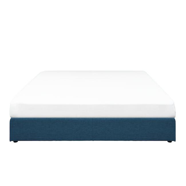 ESSENTIALS King Box Bed - Denim (Fabric) - 0