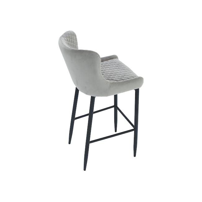 Tobias Counter Chair - Grey (Velvet) - 4
