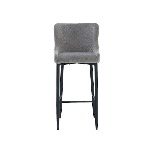 Tobias Counter Chair - Grey (Velvet) - 2