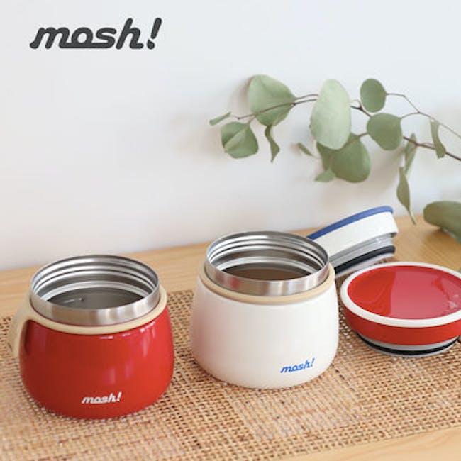 MOSH! Latte Food Pot 350ml - Red - 3