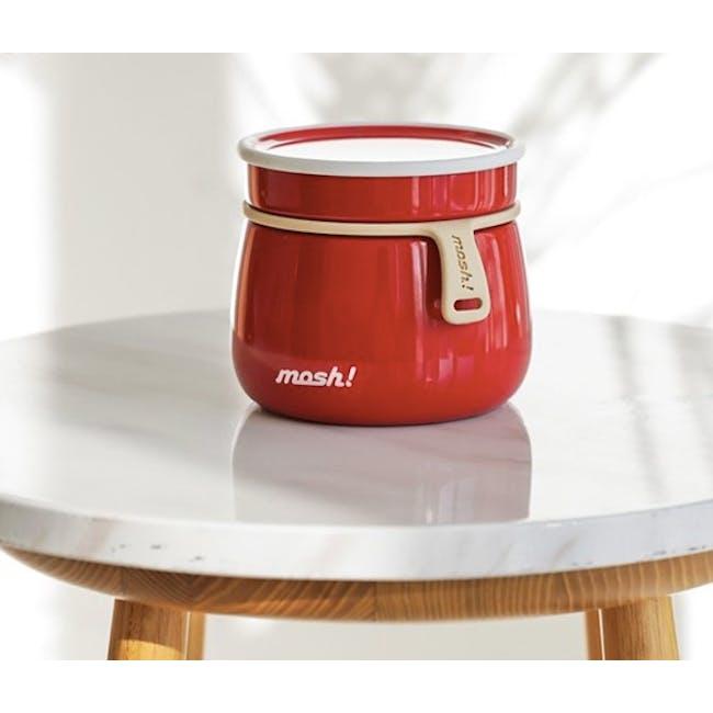 MOSH! Latte Food Pot 350ml - Red - 2
