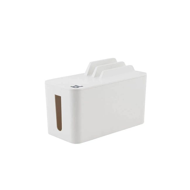 Bluelounge Cablebox Mini Station - White - 0