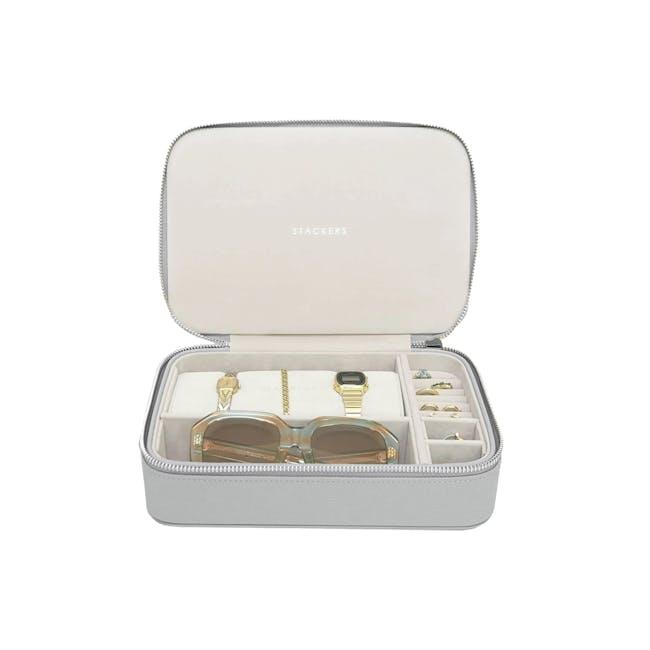 Travel Jewellery & Accessories Box - Pebble Grey - 0