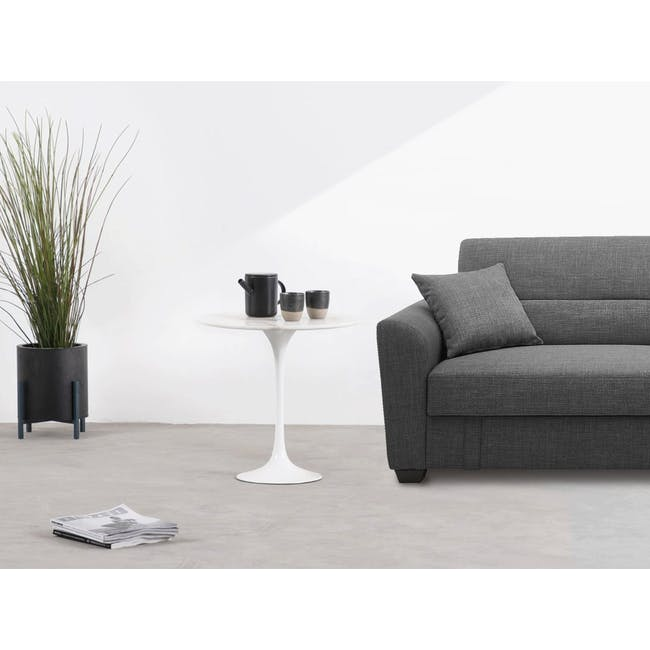 Mistra Marble Side Table - White - 1