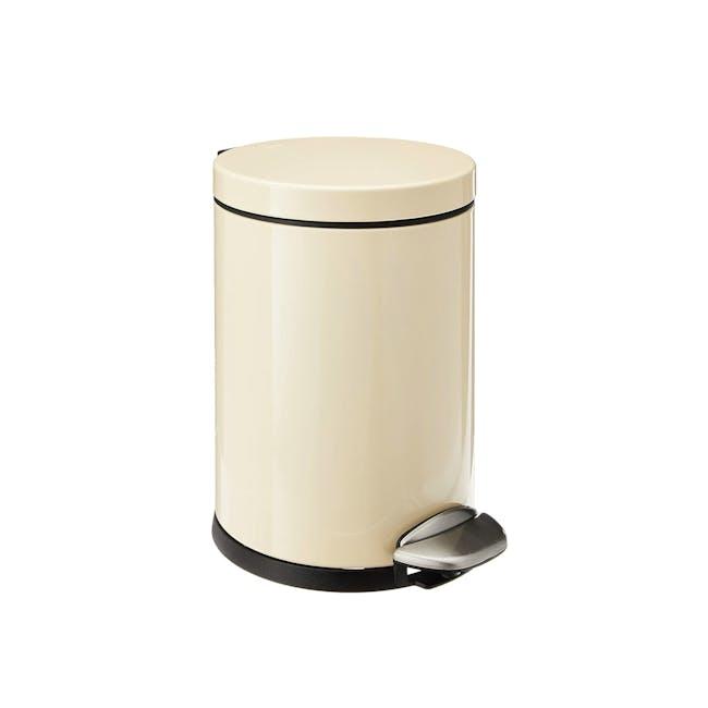 EKO Luna Stainless Steel Step Bin With Soft Closing Lid - Cream (4 Sizes) - 0