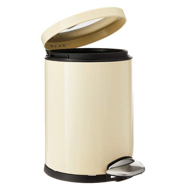 EKO Luna Stainless Steel Step Bin With Soft Closing Lid - Cream (4 Sizes) - 2