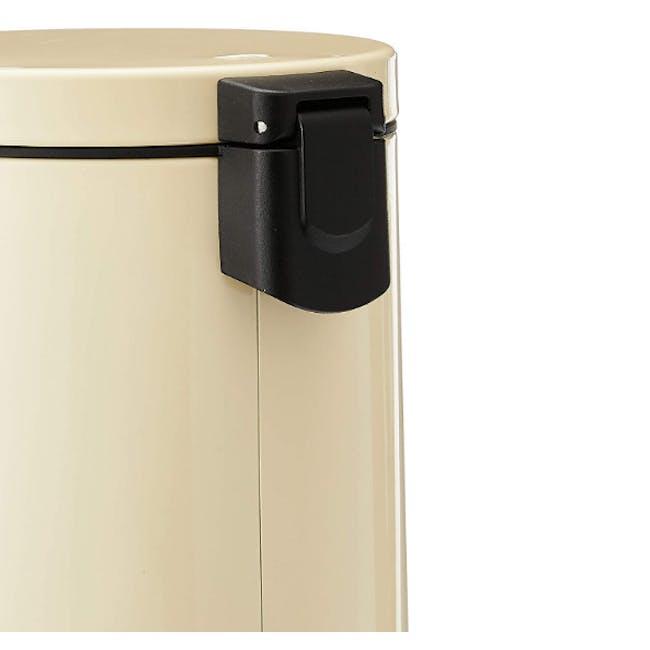 EKO Luna Stainless Steel Step Bin With Soft Closing Lid - Cream (4 Sizes) - 1