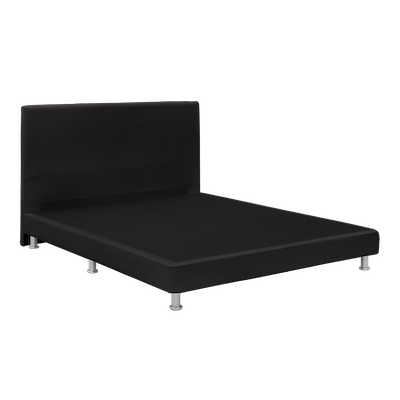 Evie Headboard Bed - Black (Faux Leather) - 4 Sizes - Image 2