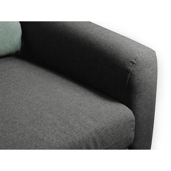 Evan 3 Seater Sofa - Charcoal Grey - 6