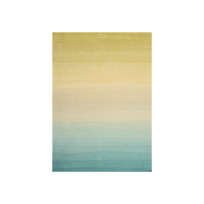 Fading Sun Rug (2m by 3m) - Aqua - Image 1