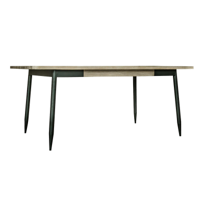 Starck Dining Table 1.6m with Starck Bench 1.3m and 2 Starck Dining Chairs - Image 2
