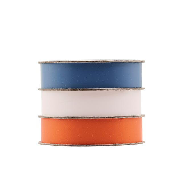 Polly Ribbon - Blue, Blush, Orange (Set of 3) - 0