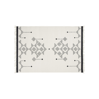 Grafico Dots Rug 3m by 2m - White - Image 1