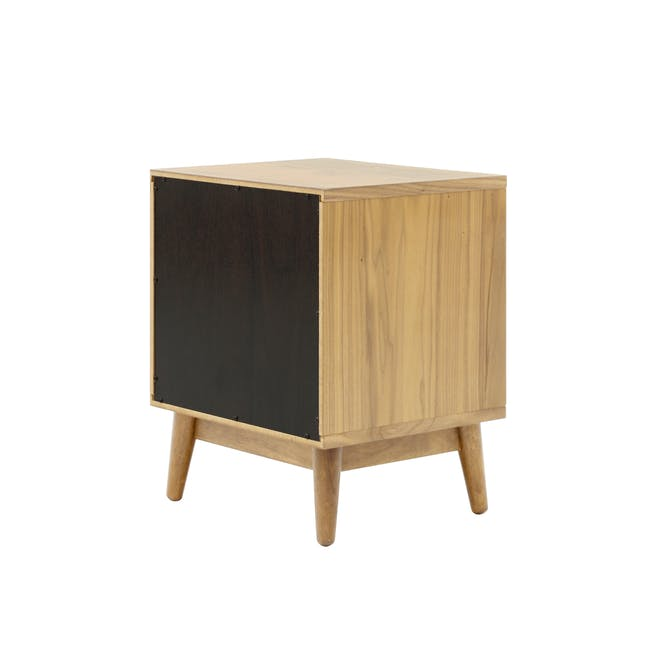 Audrey King Storage Bed in Silver Fox with 2 Kyoto Top Drawer Bedside Tables in Oak - 12