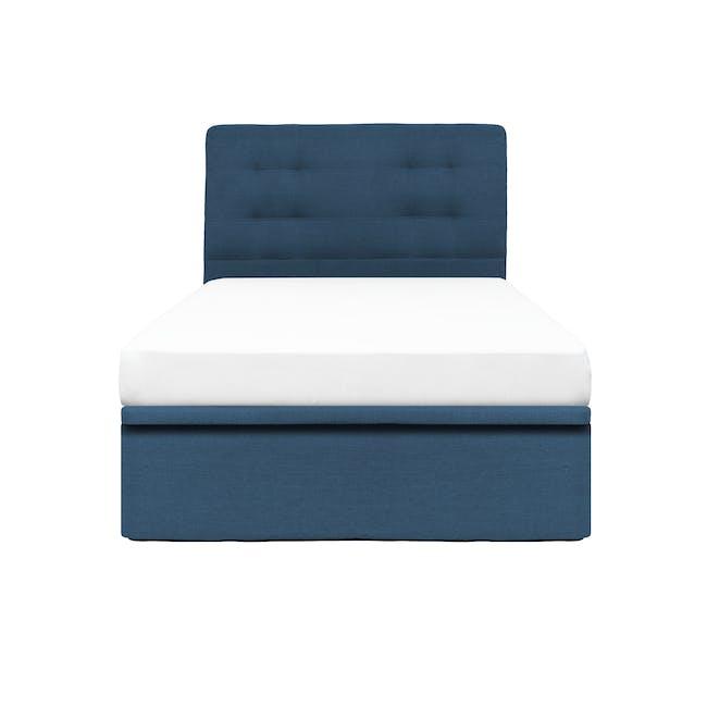 ESSENTIALS Single Headboard Storage Bed - Denim (Fabric) - 0