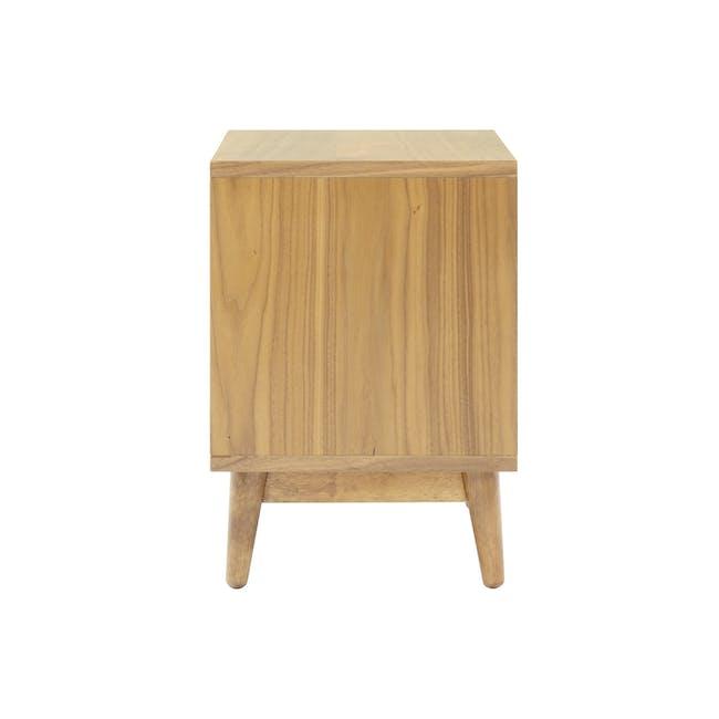 Kyoto Twin Drawer Bedside Table - Oak - 4