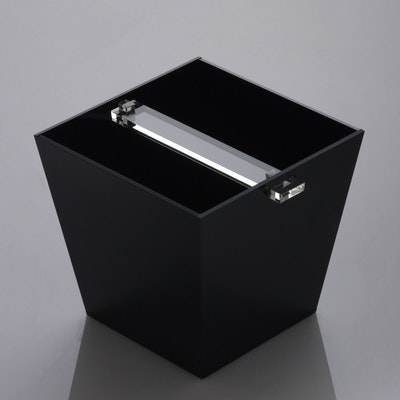 Acrylic Receptacle - Solid Black - Image 2
