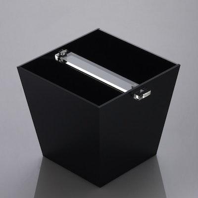 Acrylic Receptacle - Solid Black - Image 2