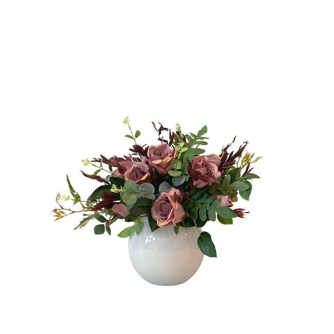 Small Floral Glass Globe - Design 1 - 0