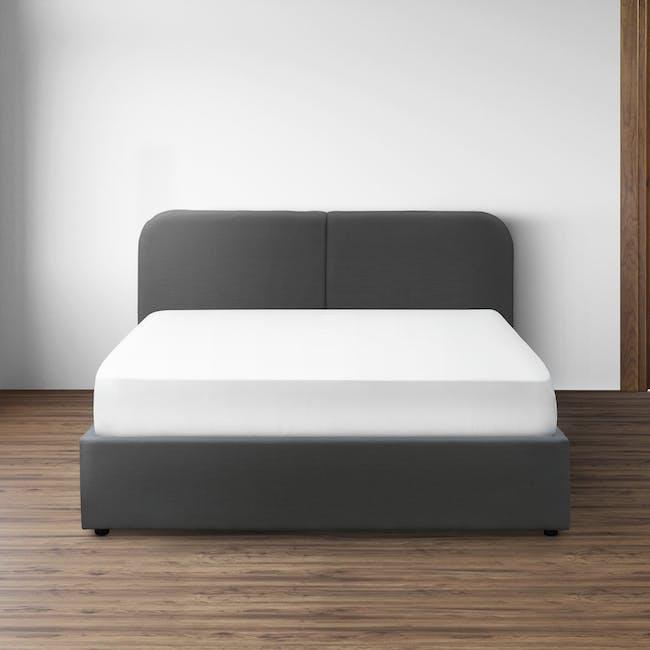 Nolan King Storage Bed - Hailstorm - 1