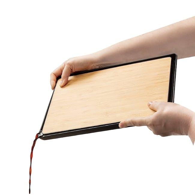 Dreamfarm Fledge Flip Edge Cutting Board - Bamboo - 5