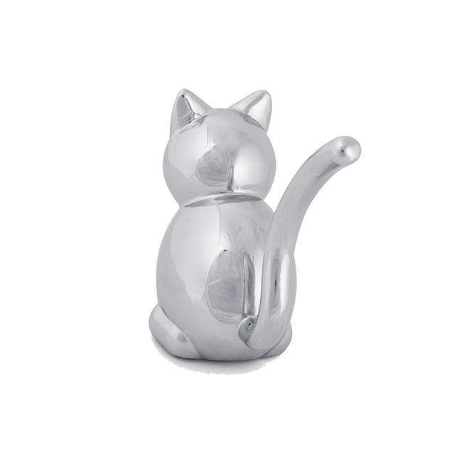 Zoola Cat Ring Holder - Chrome - 1