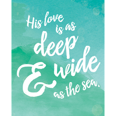 His Love Is As Deep Canvas Art Print