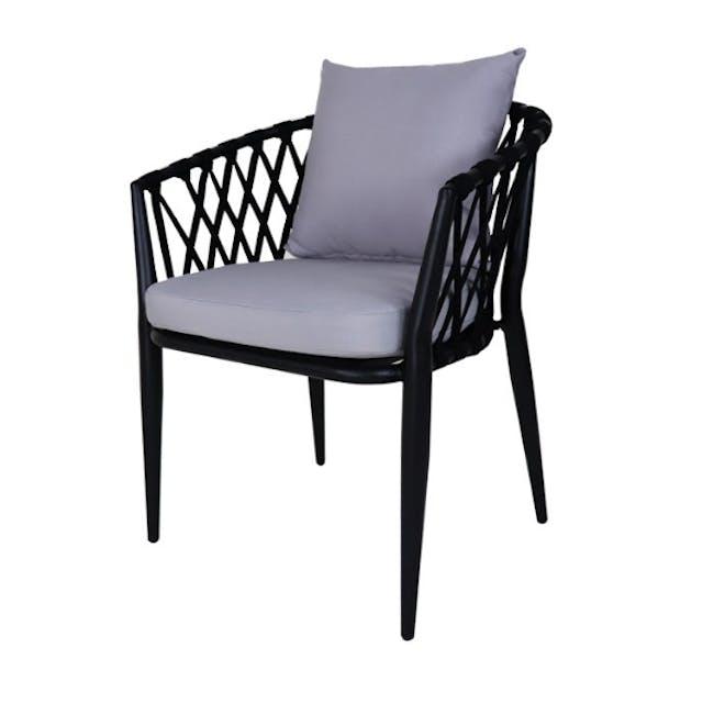 Orgo Loveseat & 2 Armchair Set - Grey Cushion - 2