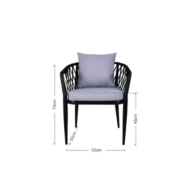 Orgo Loveseat & 2 Armchair Set - Grey Cushion - 5