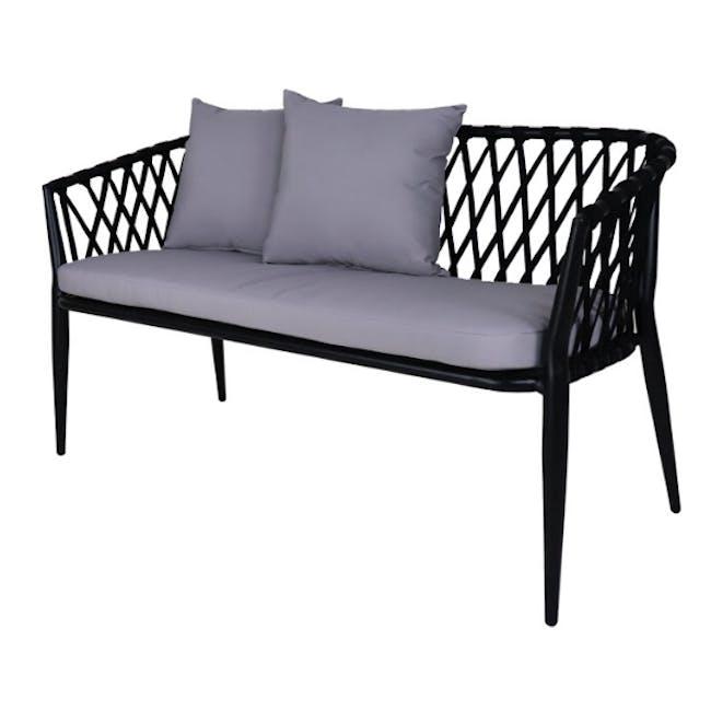 Orgo Loveseat & 2 Armchair Set - Grey Cushion - 1