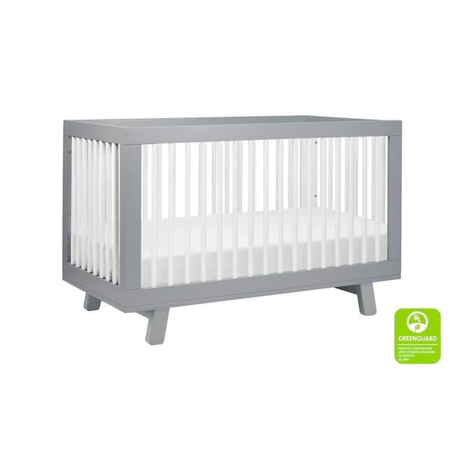 Babyletto Hudson 3-in-1 Convertible Crib - Grey & White - 3
