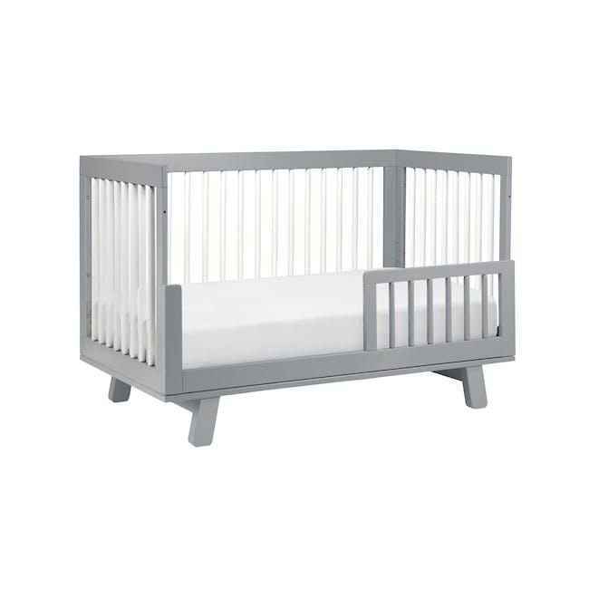 Babyletto Hudson 3-in-1 Convertible Crib - Grey & White - 4