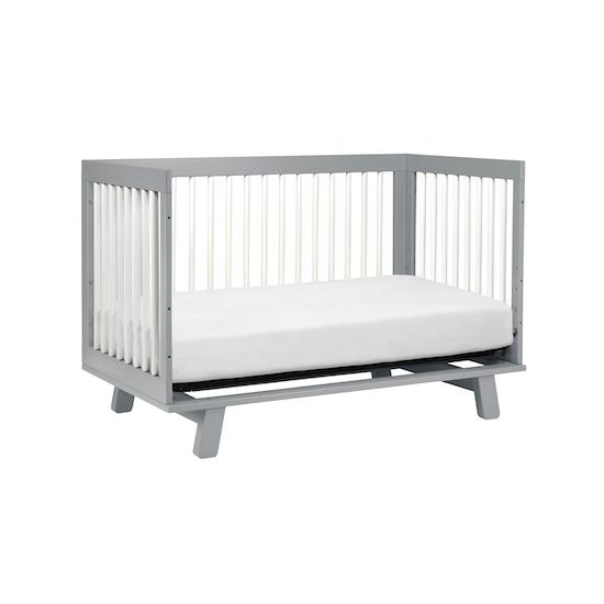 Babyletto Hudson 3 In 1 Convertible Crib Grey Amp White