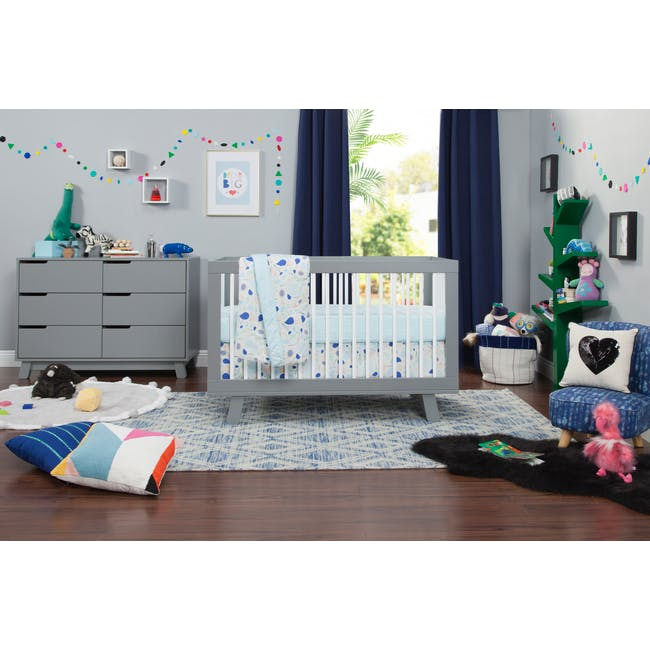 Babyletto Hudson 3-in-1 Convertible Crib - Grey & White - 6