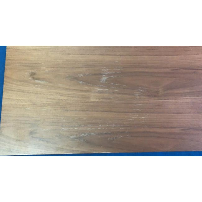 (As-is) Myron Rectangle Coffee Table - Walnut, Matt Silver - 5 - 3